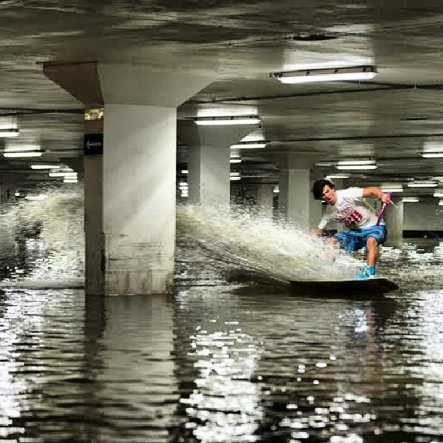 Have you ever gone wakeboarding in a parking garage? @jorgegill has || #nectarshades #doepicshit @redbull