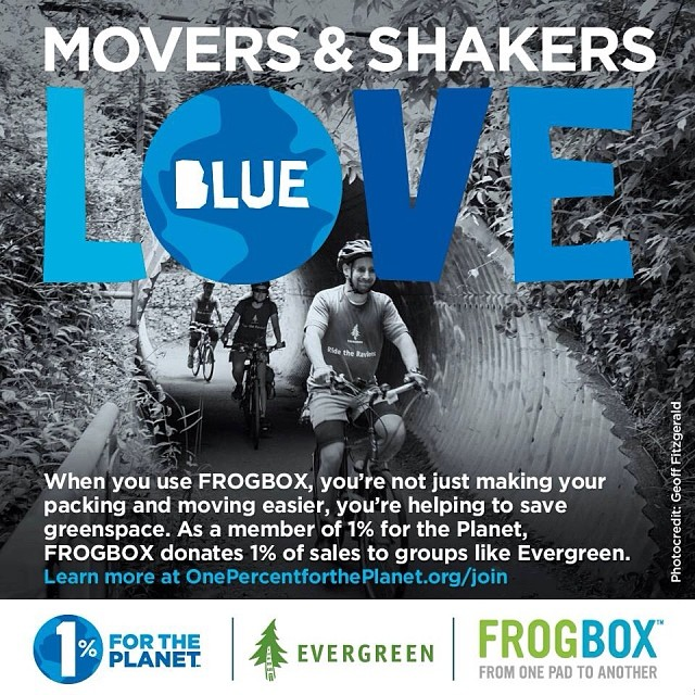 Through its 1% FTP partnership with @EvergreenCanada, @frogbox's #Toronto franchise has been working hard to promote #enviro education & greenspace protection. #giveback