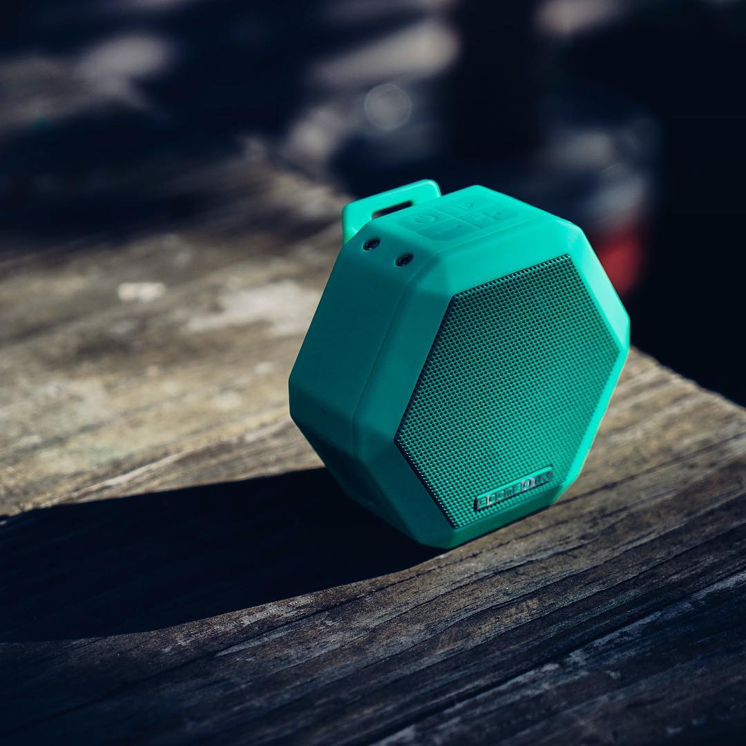 Form and Function. Our shock resistant speaker line up are some of the loudest in their class.  Shown here is the Rex in Spring  Mint Green  #Boombotix  #portablespeaker #bluetoothspeaker #essential #audiophile #design #Soundofthebrave