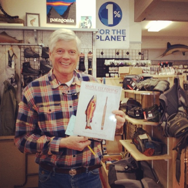 Trina, 1% FTP's Director of Development, was lucky enough to swing by #BlueRibbonFlies in West Yellowstone last week to visit with one if our founders, Craig Mathews. Here he is with his soon to be released new #flyfishing book (co-written by Yvon...