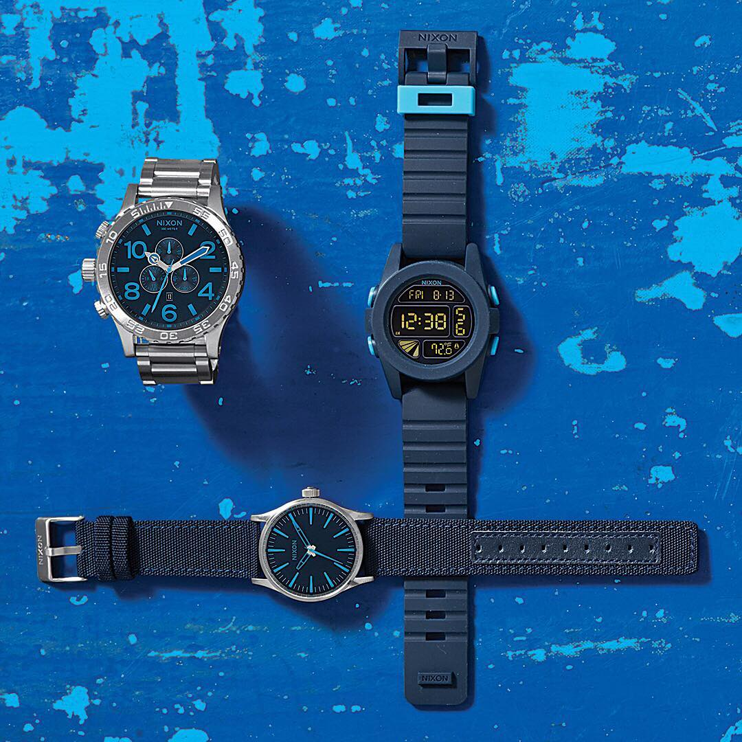 Be Mine: Adding hints of deep blue to some of our favorites.  #Nixon