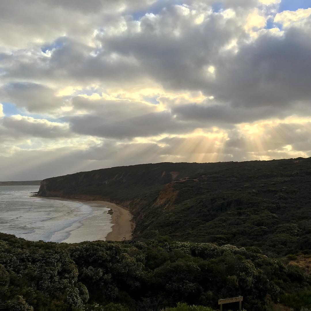 Shining down on Australia, Bells Beach!