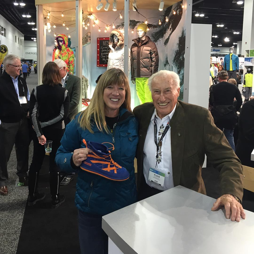 SIA Show hanging with Klaus Obermeyer. #obermeyer #siashow #pakems #bekind #booth2817