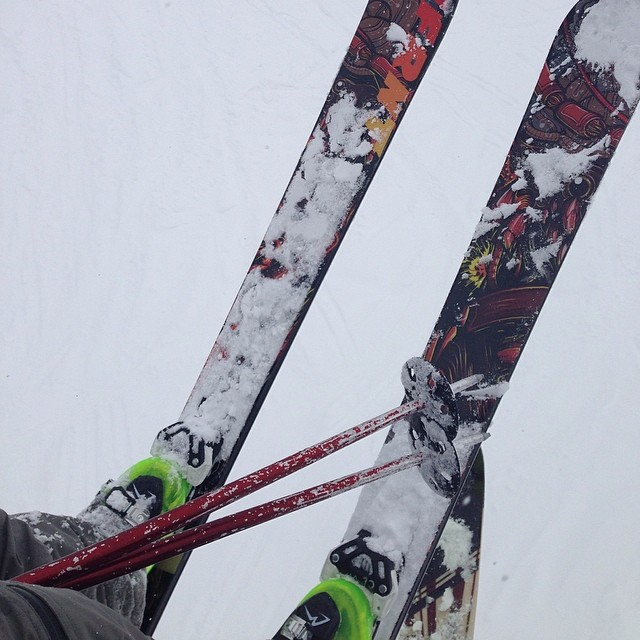 @danimal6666 got #radical today on his @4frnt_skis devastators and in his #ROXA #bold120's at @altaskiarea