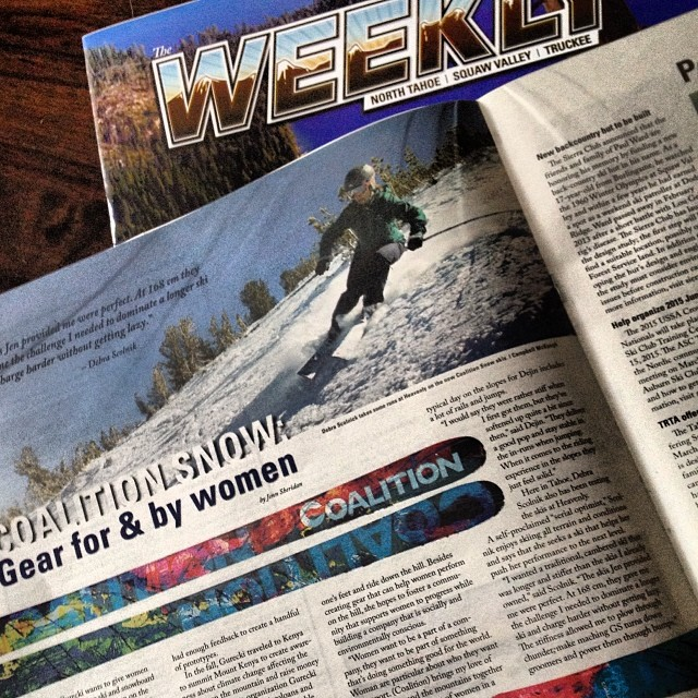 Big day for Coalition! 20+ inches up high and a feature in the #Tahoe Weekly. Not a bad way to end the week. #skiing #snowboarding #sisterhoodofshred