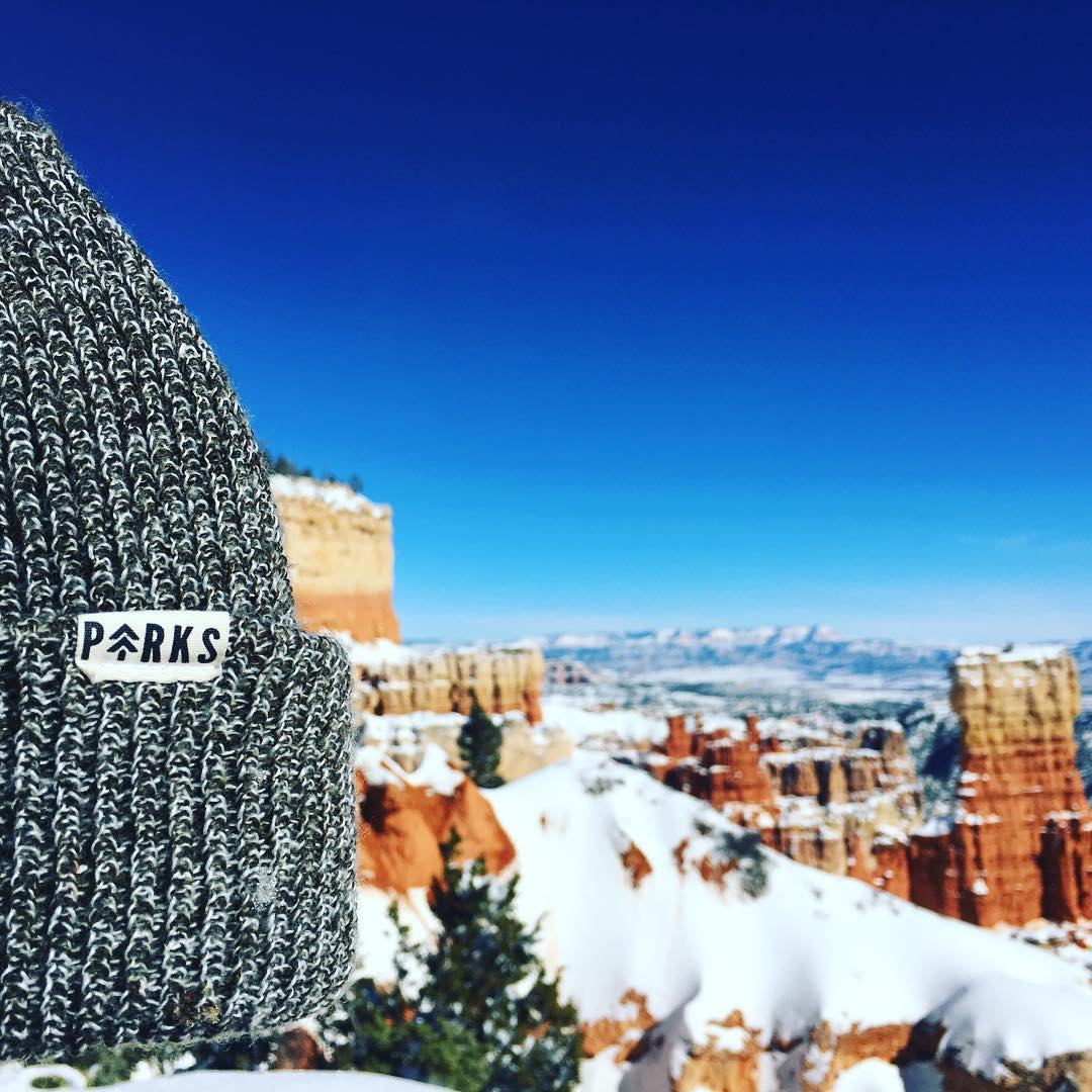 < T H R E E  D E G R E E S > The park lovers beanie found its way into @brycecanyonnps and it was cold as $#|¥ #radparks #goparks