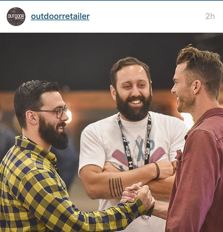 ¡ A M I G O S ! Regram from @outdoorretailer -> rock on friends at @unitedbyblue #friendships #businessforgood #ventureout