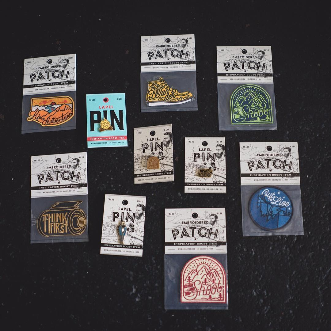Just got an incredible care package from @asildaphotography! Photography + adventure + design + pins + patches = want. You can order these and more at asildastore.com.  #asildaphotography #patches #pins