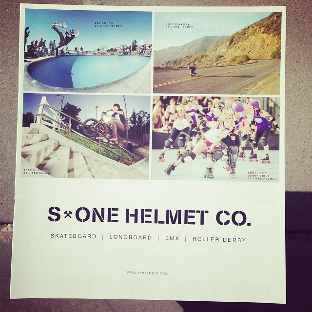 @skysiljeg @escagnar @alexplatt @angelcityderby on the cover of the #s1helmets #catalog. @s1bmx @s1rollerderby #skateboarding #longboarding #bmx #rollerderby