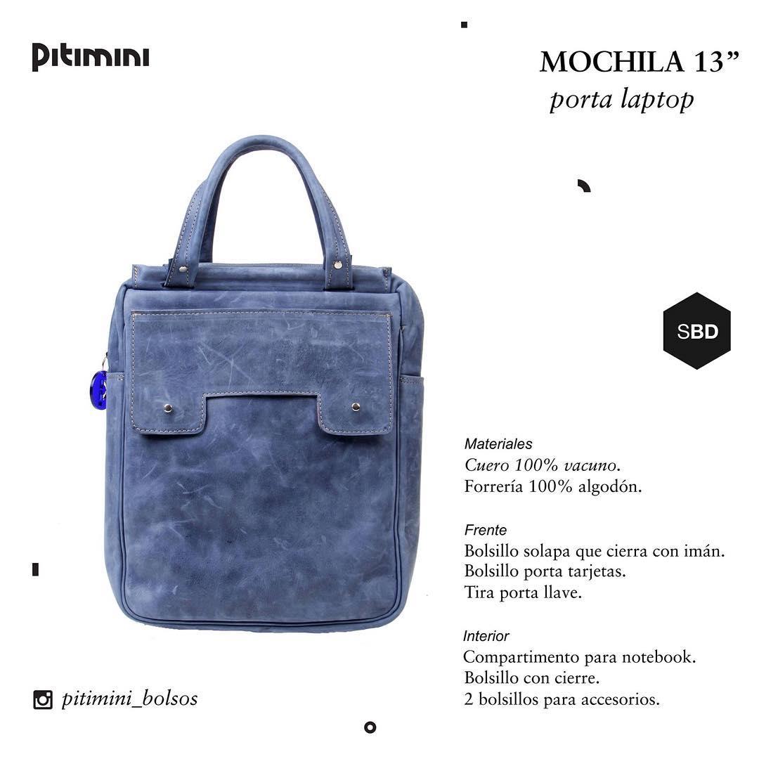 #blue #Pitimini #bagpack #techno  100% cuero! Conseguila con descuentos en tienda.pitimini.com.ar :)