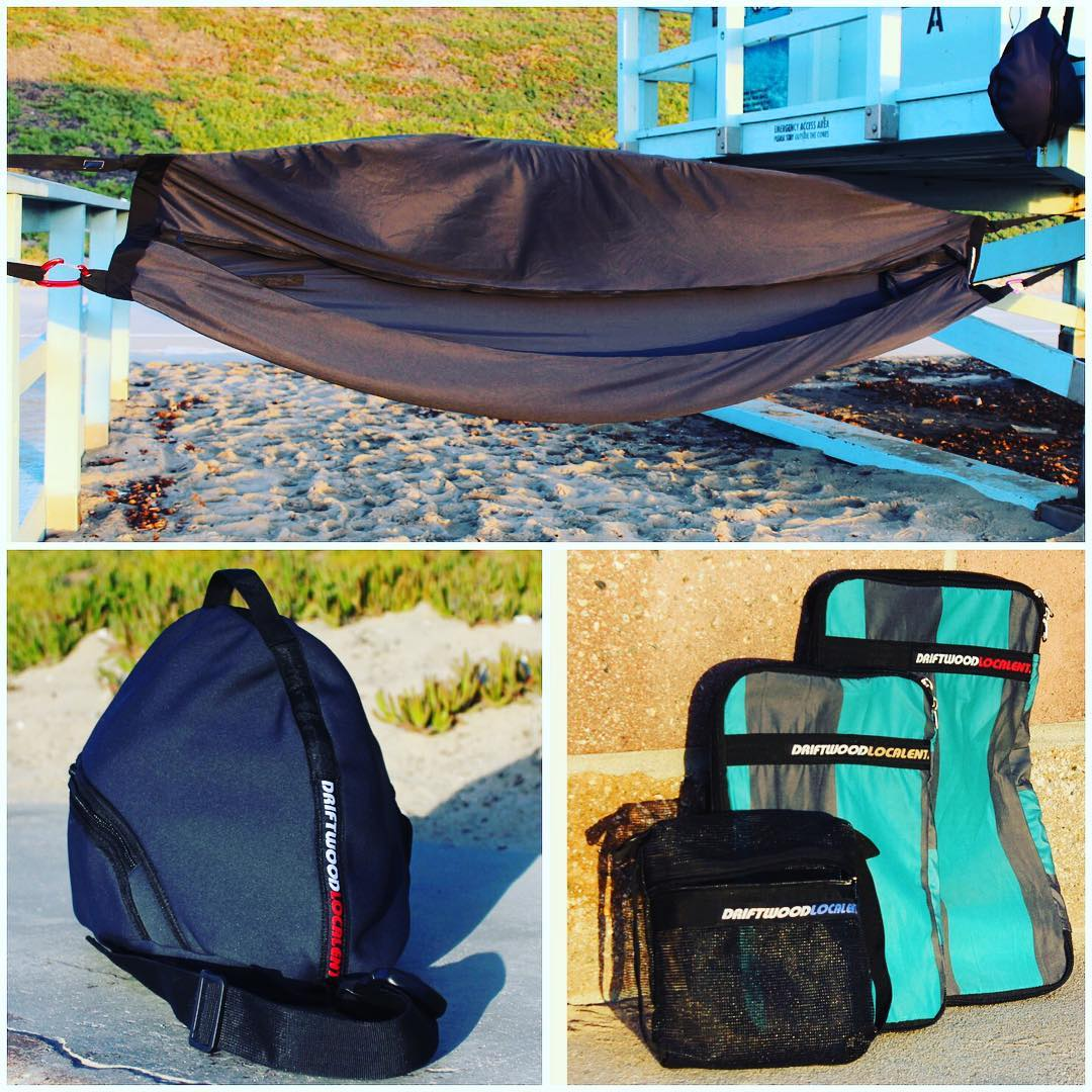 Driftwood products now available! #PushCultureApparel .com Straight from the homies in the Philippines! The #Hammocks you've heard about with the built in mosquito fly, the Pack Organizers and the Fullface Helmet Bag are up now, more to come. #travel...