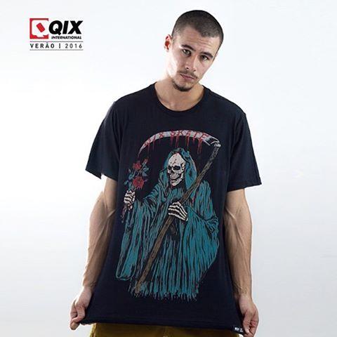 Camiseta QIX Rock Art - Verão 16. Disponível nas lojas de todo o Brasil.