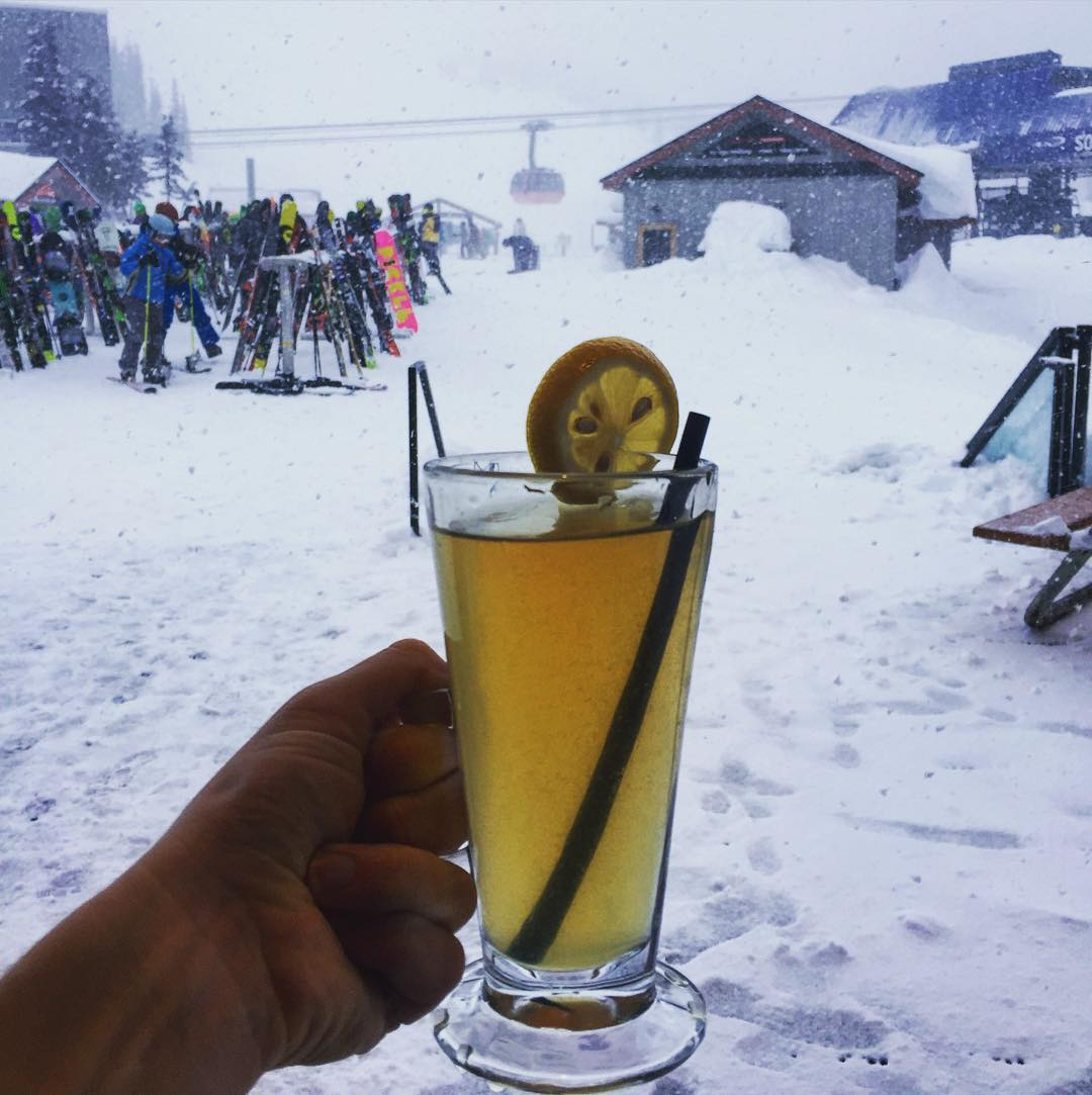 When life gives you lemons ... drink hot toddies #skitrip #