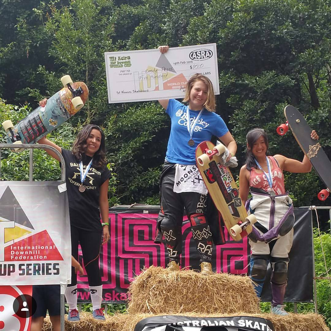 Congrats to @magalyfbe of @basementskate for taking 3rd place at #mtkeiraidf, the first @idfracing world cup of the year on her #raynemisfortune!!!
