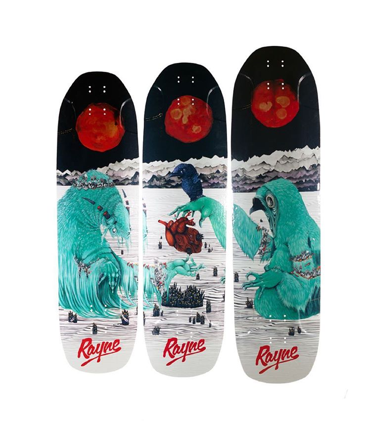 New spring releases are live at RAYNE.com. Here are the new Brightside, Darkside, and Otherside with fresh new graphics from @caleigh_ill .  We also have all new Gateway series boards with updated construction, specs, and graphics.  #wemakerayne...