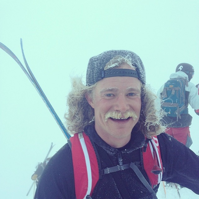 Well, we woke up at 4am, got to Alta by 5:30am and made our way to the top of Mt. Superior by 7:45am. Although it was deep, visibility was nearly zero but @bucksnorts kept the good vibes rolling when he showed up on the summit with a full brine stache....