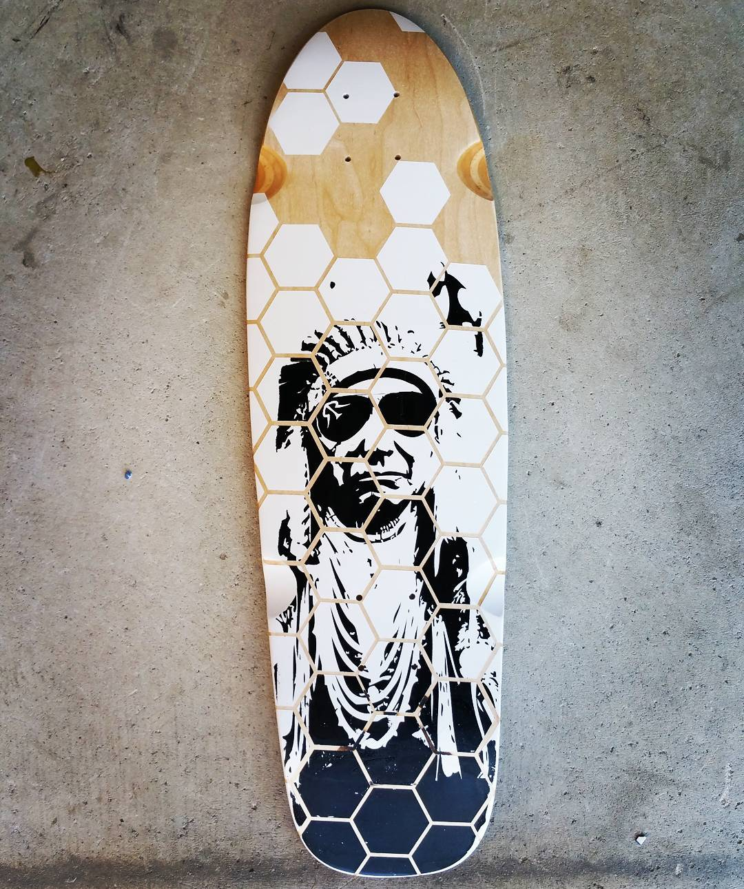A new take on the Indian Chief. #hexagon #longboard #kalayaan #roadrashboardco #custom