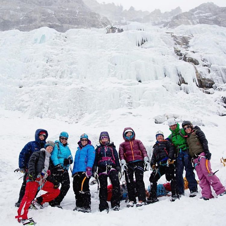 #Regram from @licarlson. A great crew of SheJumpers came out to our ice climbing clinic in Utah last weekend. Way to get after it ladies, ice climbing is hardcore