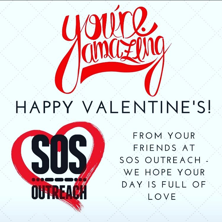 From all of us here at @sosoutreach, we hope your #valentines is full of happiness and #love ❤️ Thanks for making the #sosfamily what it is. Keep spreading the love!