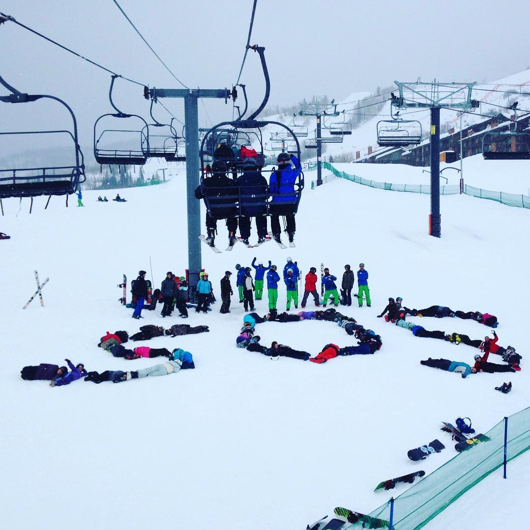 #stoked is one word to describe our #learntoride participants at @steamboatresort! These #shredders graduate this #saturday and we couldn't be more #proud. Keep on spreading the #love ✌