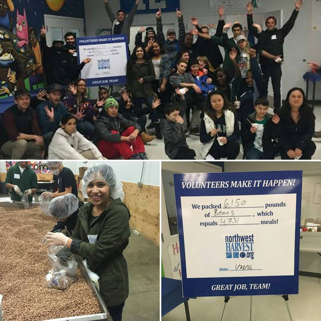 ​Service Spotlight! Last week, #Seattle participants volunteered at #Northwest Harvest to sort 6,150 pinto beans into into bags for families in need throughout the area. Thank you to the SOS students and sherpas who helped supply 4,731 meals to hungry...