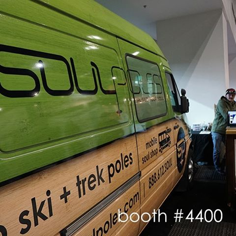 And so it begins #SIA16...if you're attending the show stop by @soulpoles booth #4400 to check out our latest designs or even get a chance to customize your own #bambooskipoles // #plantyoursoul