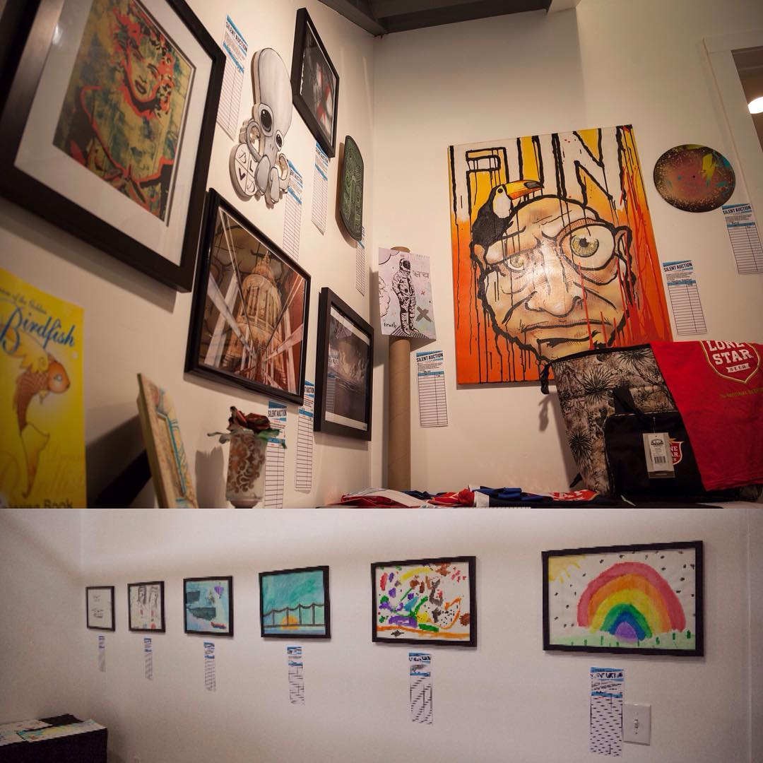 Today is the last day to make a difference!!! Come in and raise the bids on the kids art and on some of your favorite SprATX local artists!! All proceeds go to Austin Child Guidance Center @_acgc_ one of Austin's longest running non-profits. It's all...