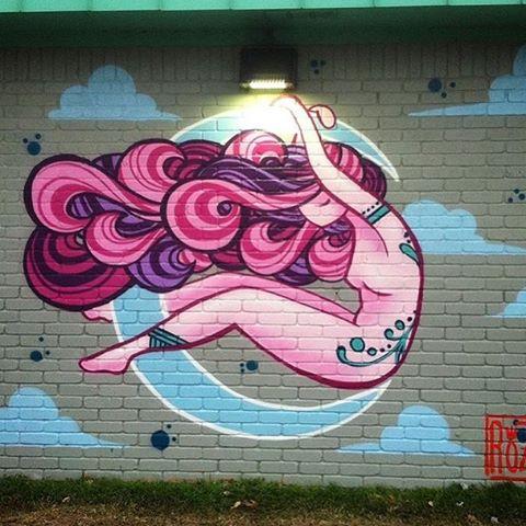 @stellar_roz • • @jerrysaustin #ATX #AUSTINTX • • #art #mural #stellarroz #SPRATX #beatiful #streetart #texas #tx
