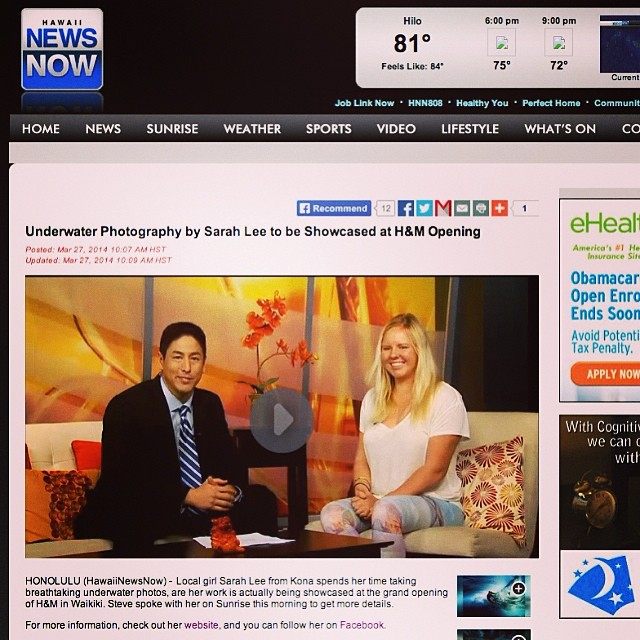 Yesterday morning on @hawaiinewsnow sunrise for @smugmug films + @hm grand opening!