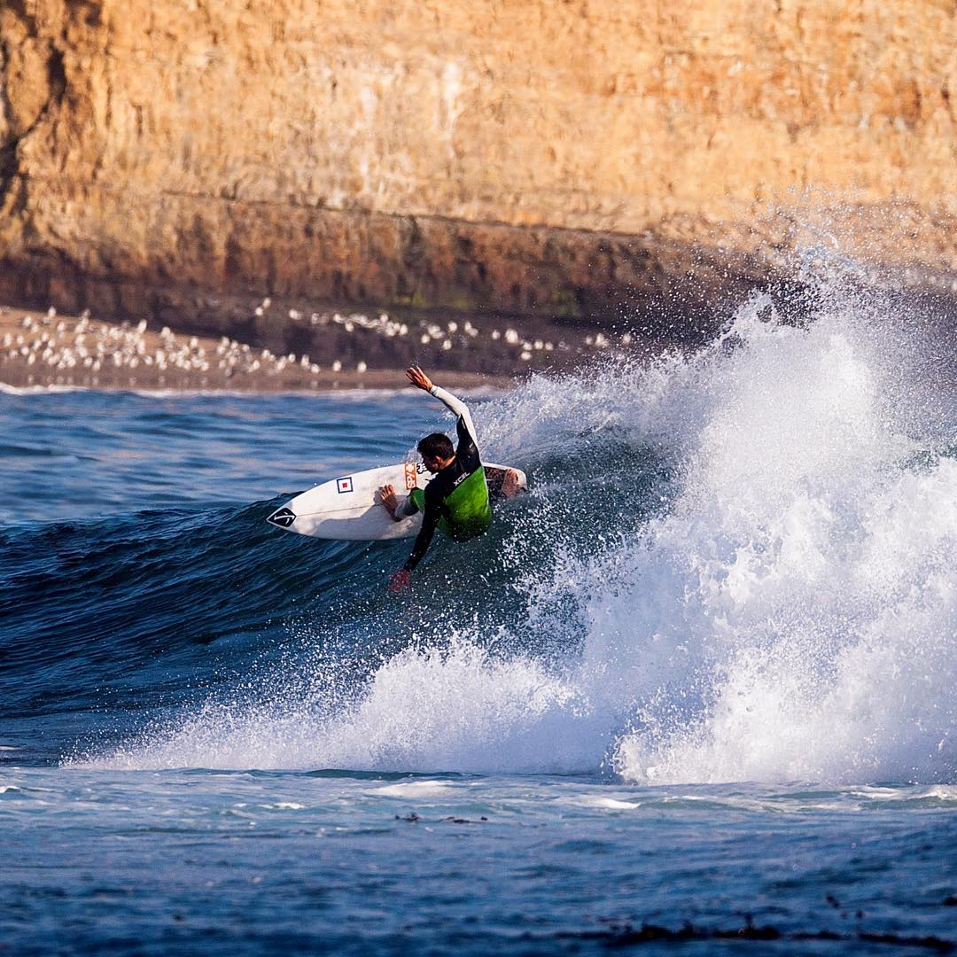 It's all smiles in Santa Cruz for @skyallen thanks to our good pal #elniño.
