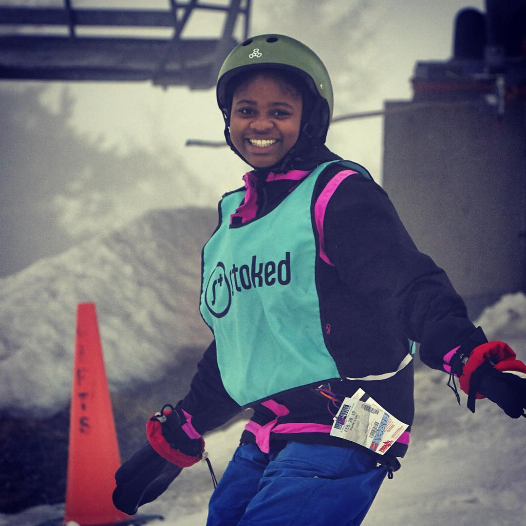 Confident, excited and ready to ride! #stokedsnowboarding