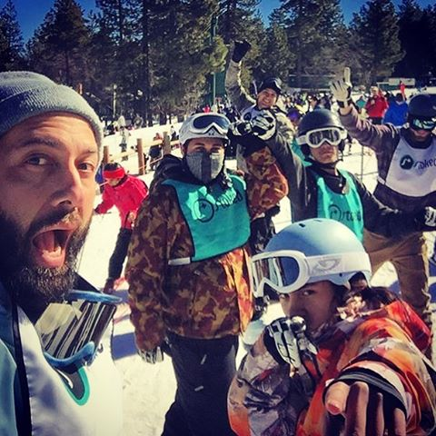 Thanks to @dsantosla for this shot from @snow_summit last weekend. @stoked_la is looking good! #stokedsnowboarding