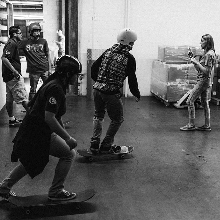 Huge thanks to @rebel8 for hosting some of our @stoked_la kids yesterday! They toured the warehouse, met @joshyrebel8 and got to hang and skate with employees. Such a rad experience!