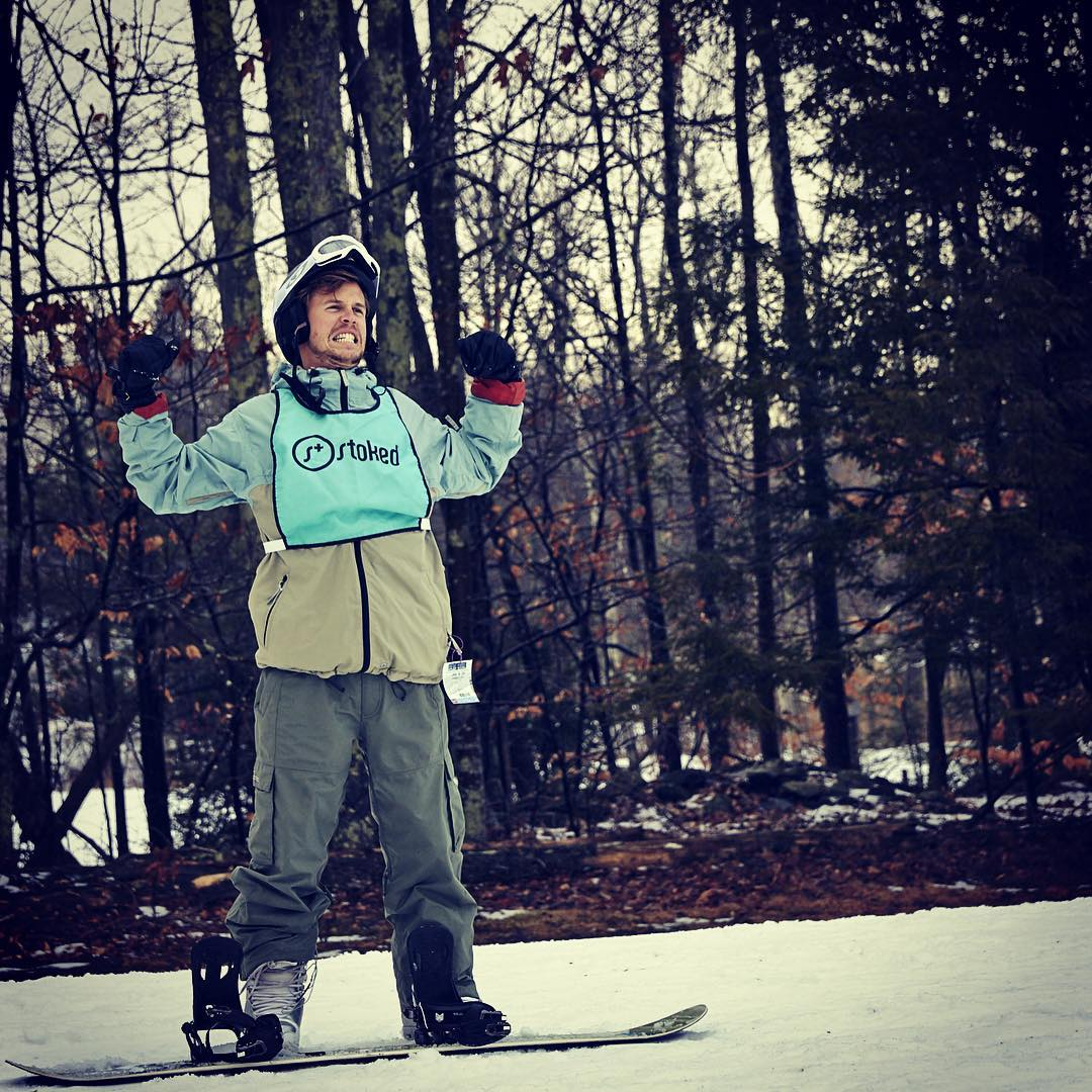 Our program manager, Kyle, is so ready to take on the mountain this weekend.
