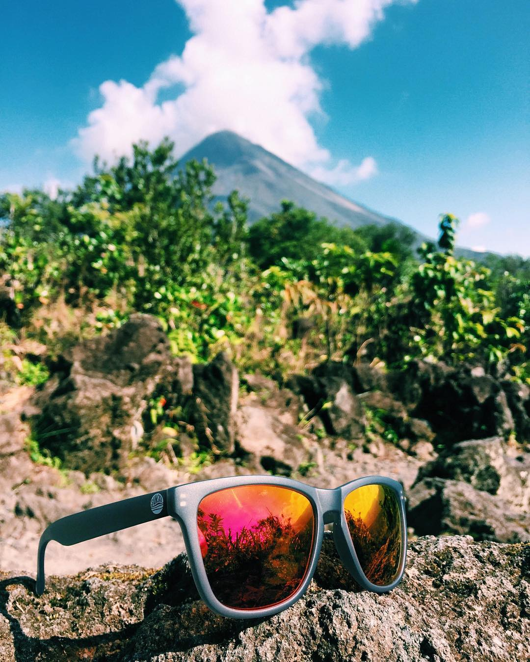 Shades with a side of volcano