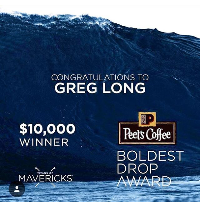 Can't say their coffee is quite our cup of tea (take @equatorcoffees & @thrivefarmers any day) ☕️ but we're big fans of the choice to pick @gerglong to win the #BoldestDrop award yesterday at the @titansofmavericks event, while on his way to a solid...