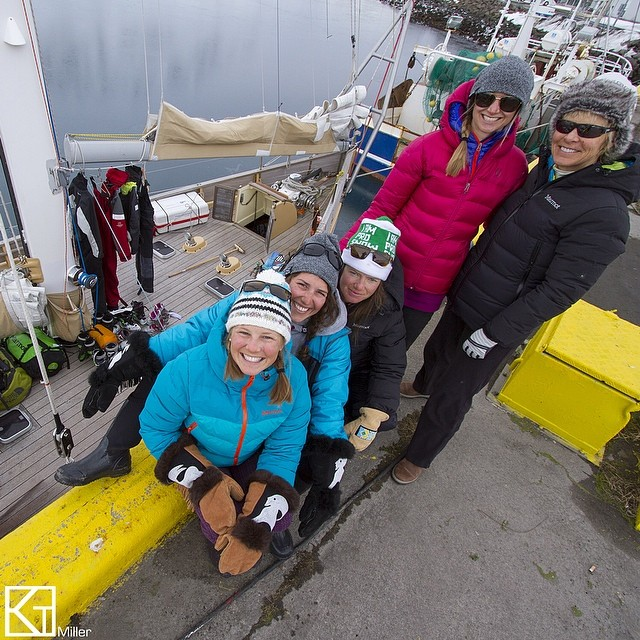 Getting ready to board La Louise (pictured) in Isafjordur. Hoping for good weather and calm seas for our passage to Greenland. We'll be dropping pins on our GPS which you can view on our FB page or the link in our profile. Bon voyage until April 19th!...