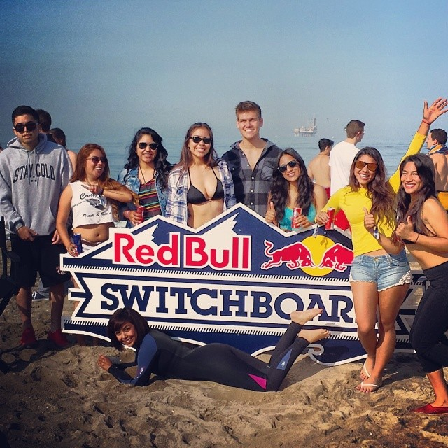We're having so much fun at the @redbulllax @redbullsd #switchboard event! #surf #goflow #redbull