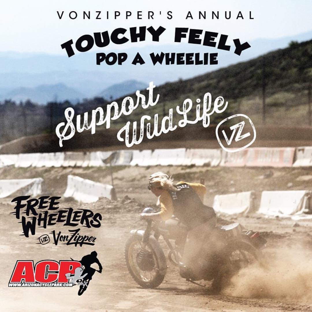 Tomorrow!!! Come out and get wild with us! Time to put it on one tire a send it.  9am-1pm we are bringing our annual 'Touchy Feely Pop A Wheelie' to @ArizonaCyclePark. VZ #FreewheelersMX @TylerBereman will be there for a meet and greet/autograph...