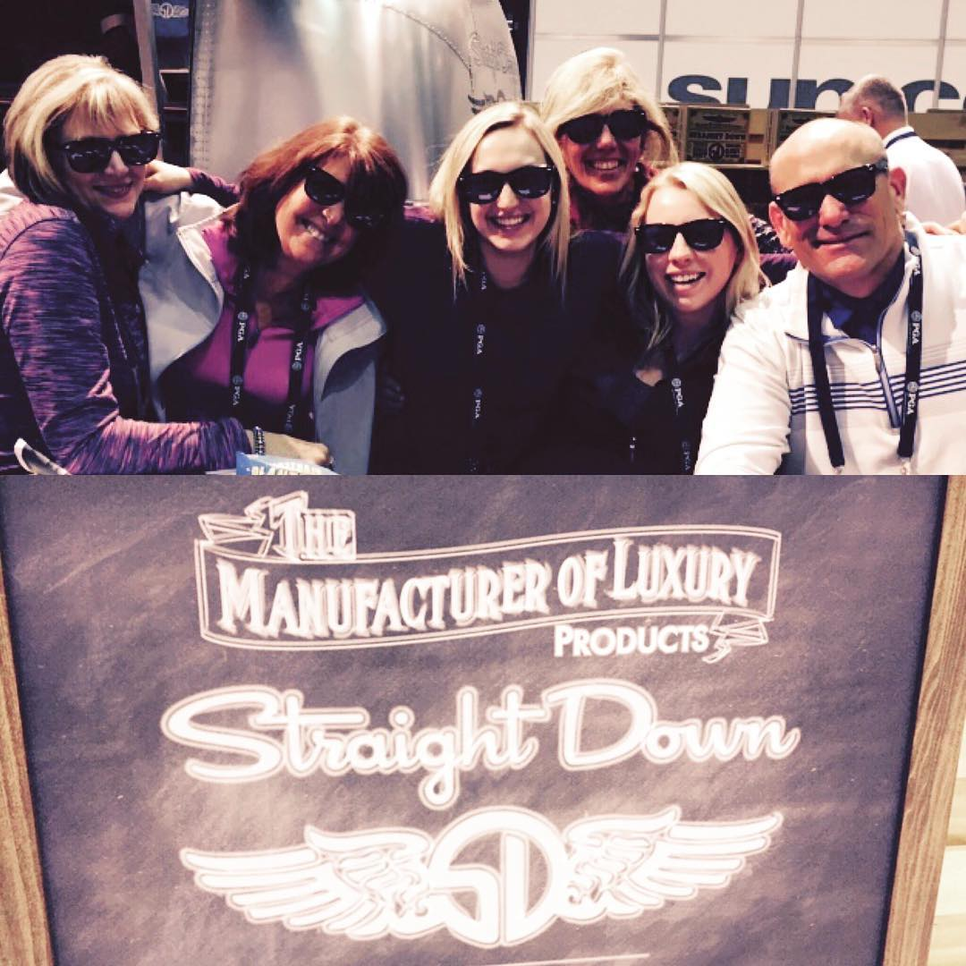 New friends with new #sunglasses at the #pgashow #golf @straightdown #straightdown #waveborn #findthesun #luxury
