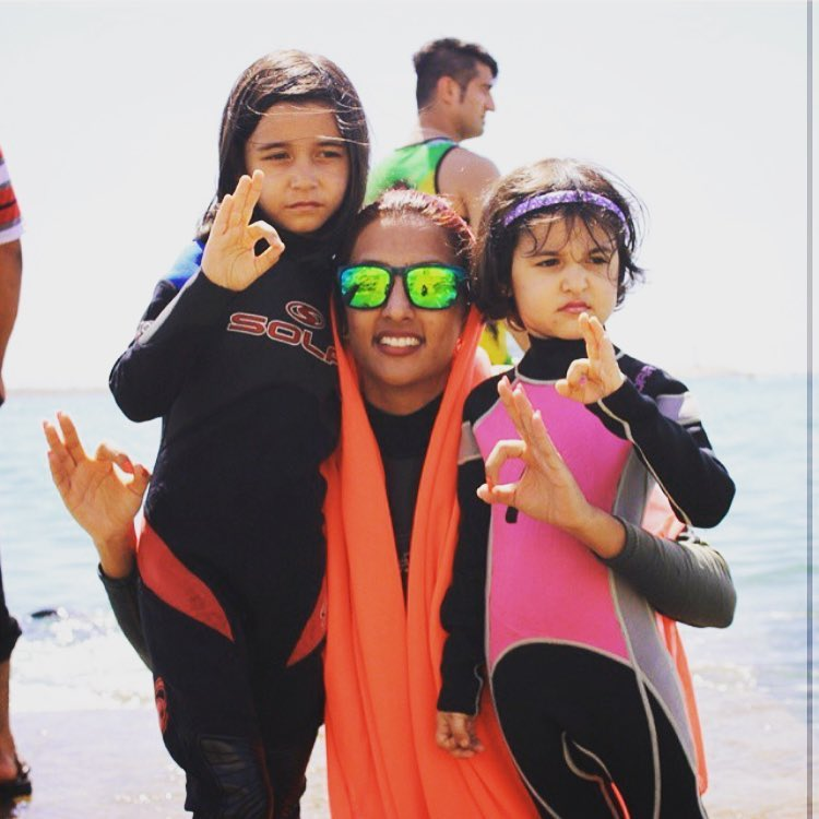 #spreadthemovement to #Iran to teach women of all ages how to #surf #wavesoffreedom #waveborn #ohhhkay