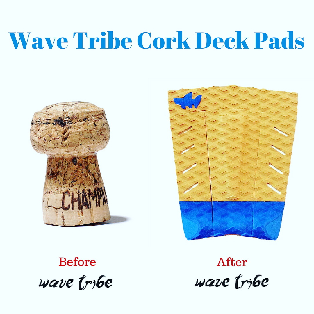 Bull Shark Five Cork Deck Pad. Stronger than Plastic. #surferswhocare #eco #cork #surf