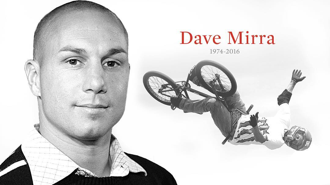 Pioneer. Legend. Icon.  Today, we honor the amazing life of Dave Mirra.