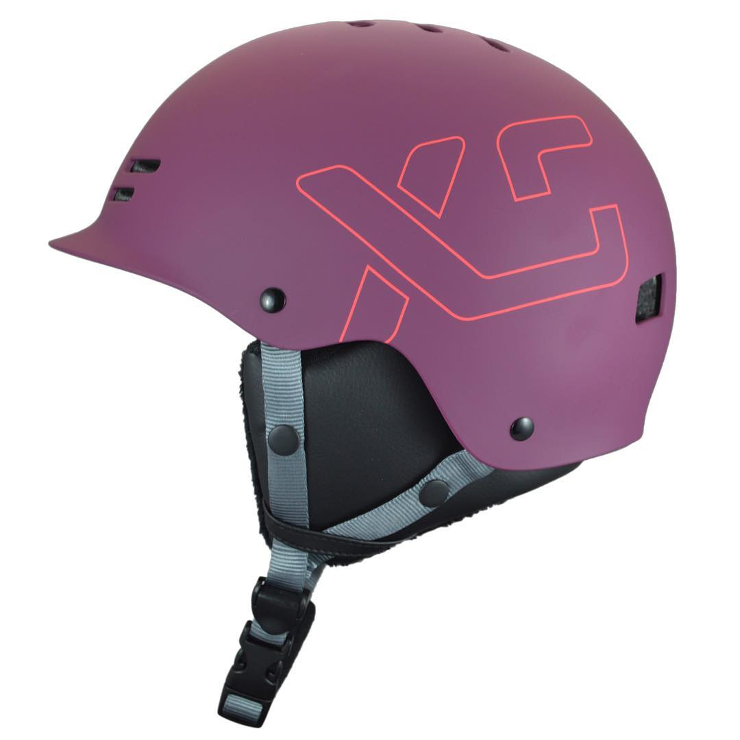 In stock and ready to ship at the end of February - Our Plum Freeride all season helmet has been in high demand! This matte dark Plum has removable black faux leather and fur ear covers, removable goggle clip, fur liners and includes a summer fit kit...