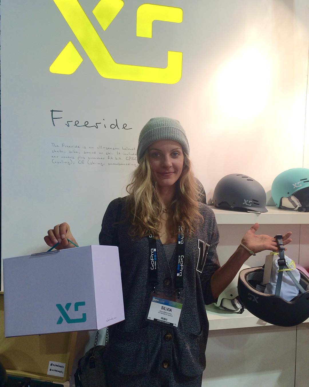 Had the pleasure to see @silviamittermul today and set her up with some goods! Thanks Silvia for making time to visit us! #xshelmets #xssocks #sia16