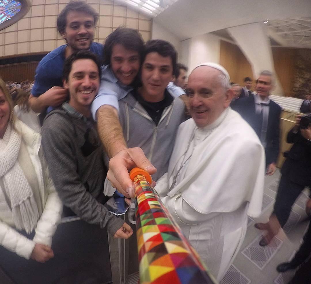 #Selfie con #popefrancis ! Gracias @tomidorronzoro por la foto! #ZephyrPole