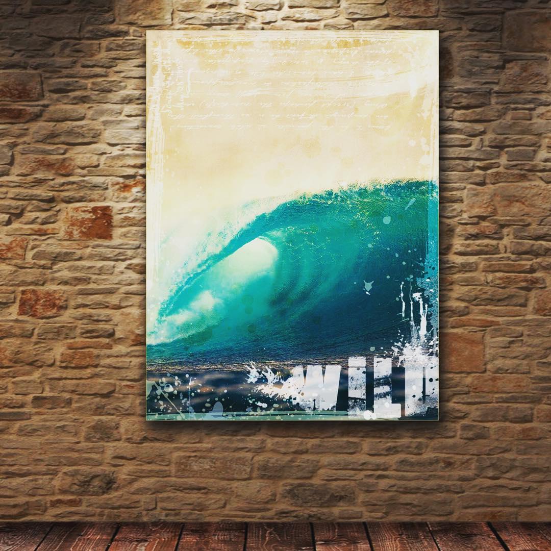 #chilimango #sea #sun #surf #style #swell #surfers #surfer #surfing #surfing #deco #design #ola #epico #epic #oceano #ocean #waves Impreso en tela 100%algodon sobre bastidor en madera de reforestación..