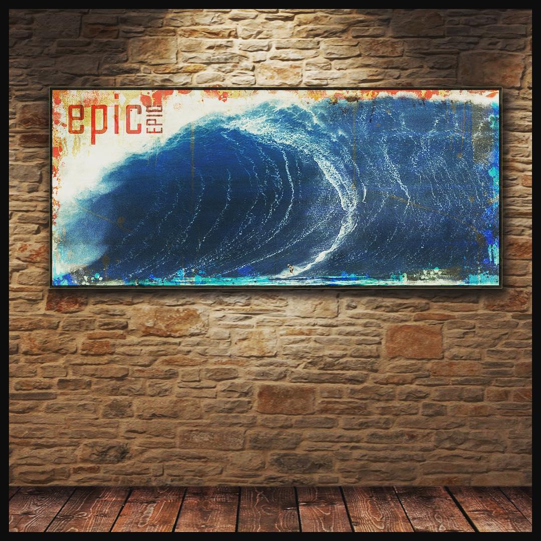 #chilimango #art #surf #style #surfers #surfer #surfing #surfing #decosurf #suefstyle #lifestyle #sea #waves #ocean #oceano #epic #epico #ola  Impresa en tela 100% algodón con bastidor en madera de reforestación...
