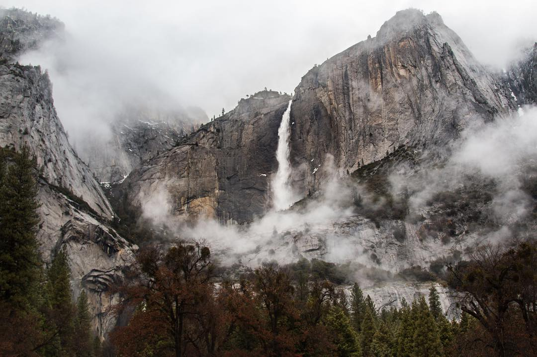 A majestic shot of Yosemite in the fog. It's always amazing seeing this American icon through a different lens.