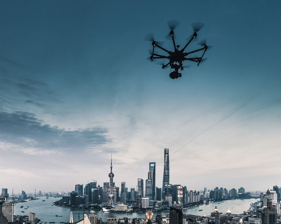 Spreading Wings over Shanghai  Credit: UP! Aerial Art | #S1000 #Shanghai  Use #IamDJI to share your aerial creations with us!